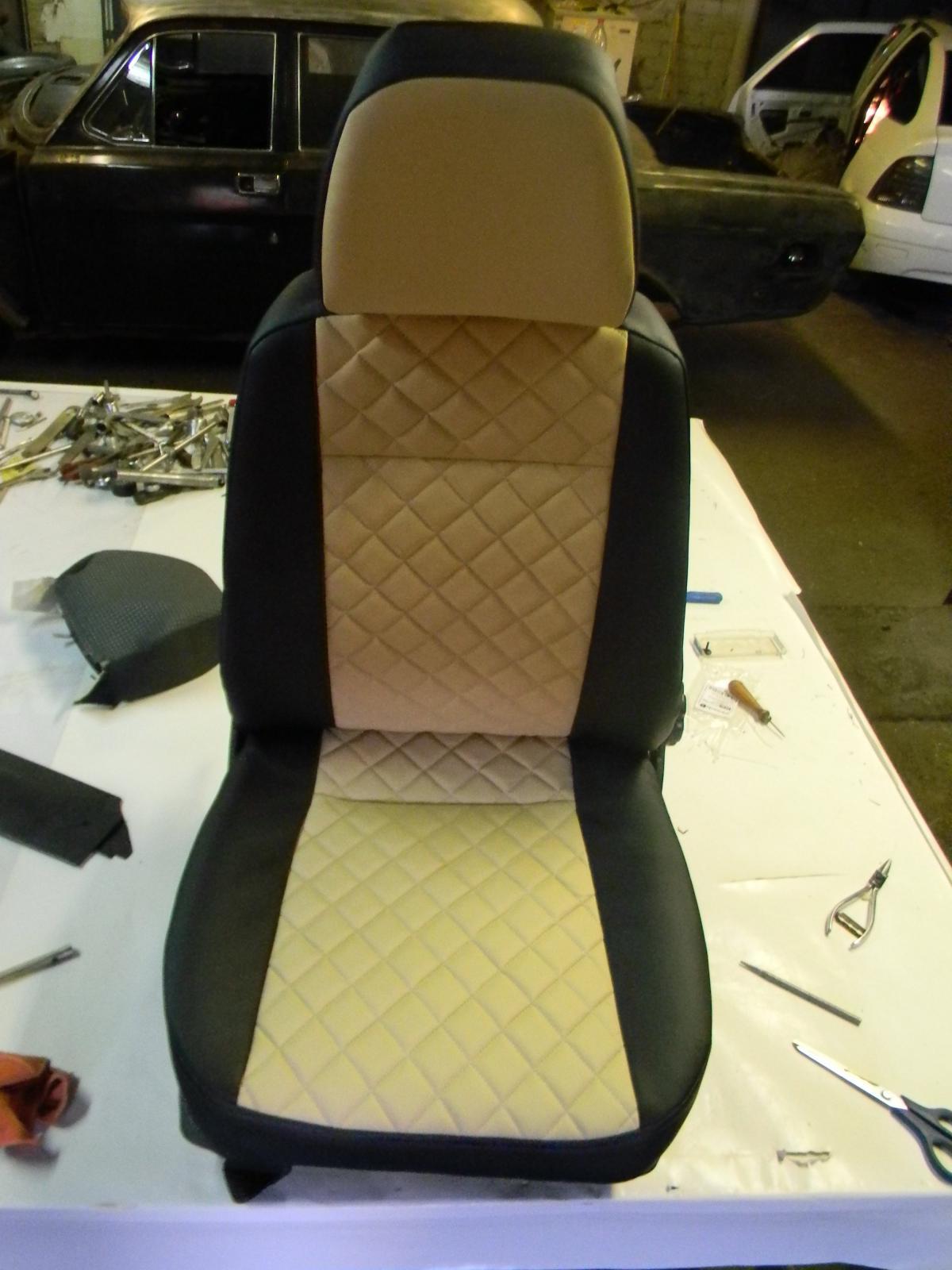 Обшивка сиденья автомобиля своими руками 26