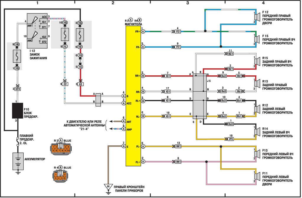 Электрическая схема тойота камри 2015