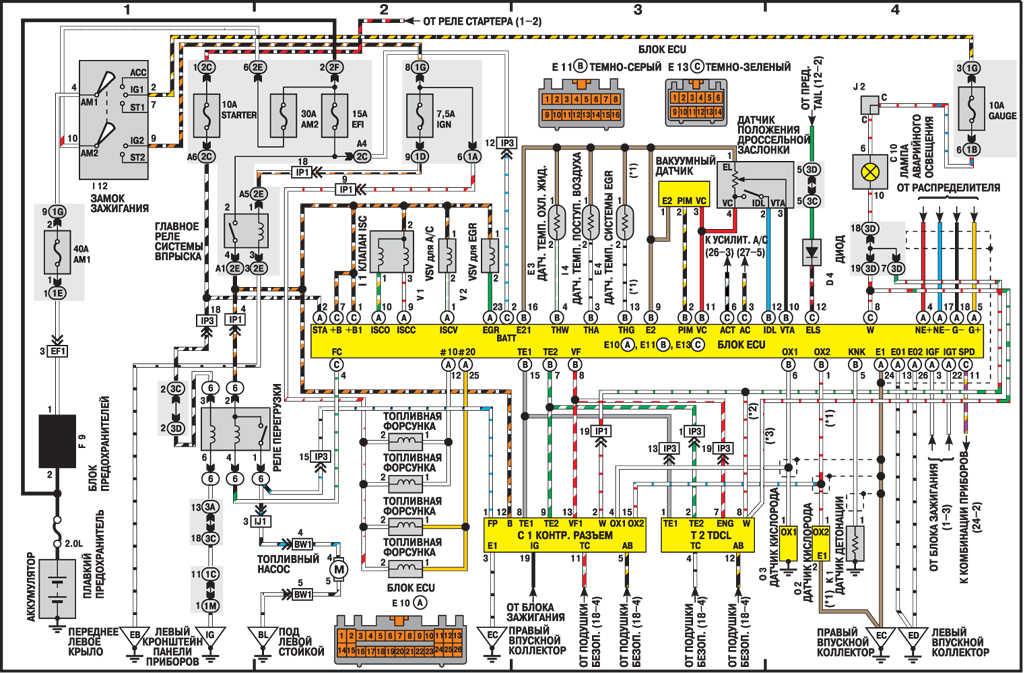 Схема проводки дэу нексия 150