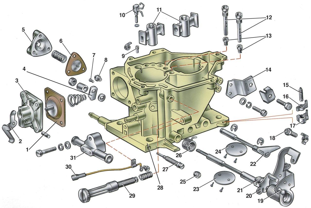 карбюратор солекс схема и устройство 21053 в разрезе